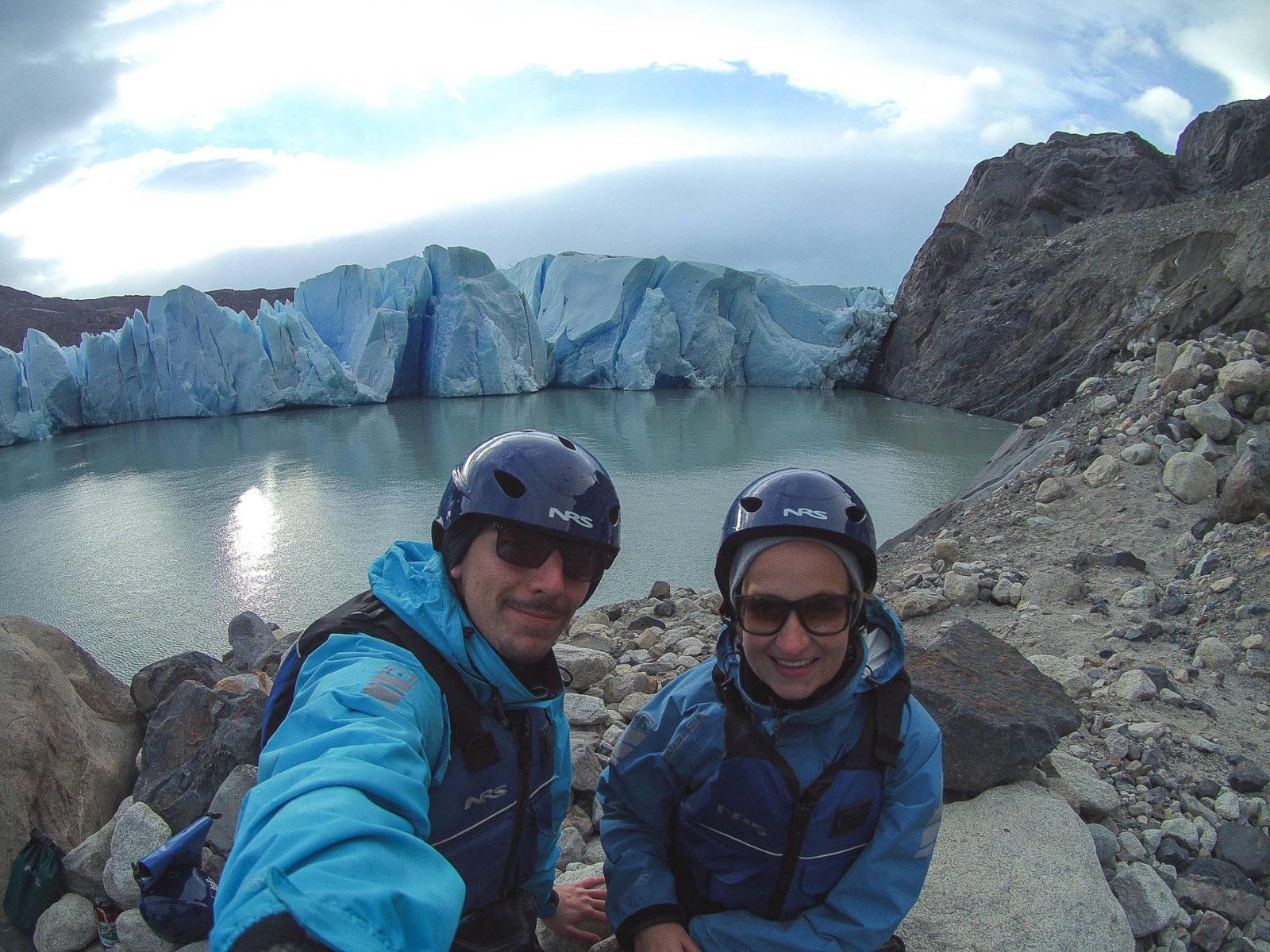 Kayaken am Grey Glacier