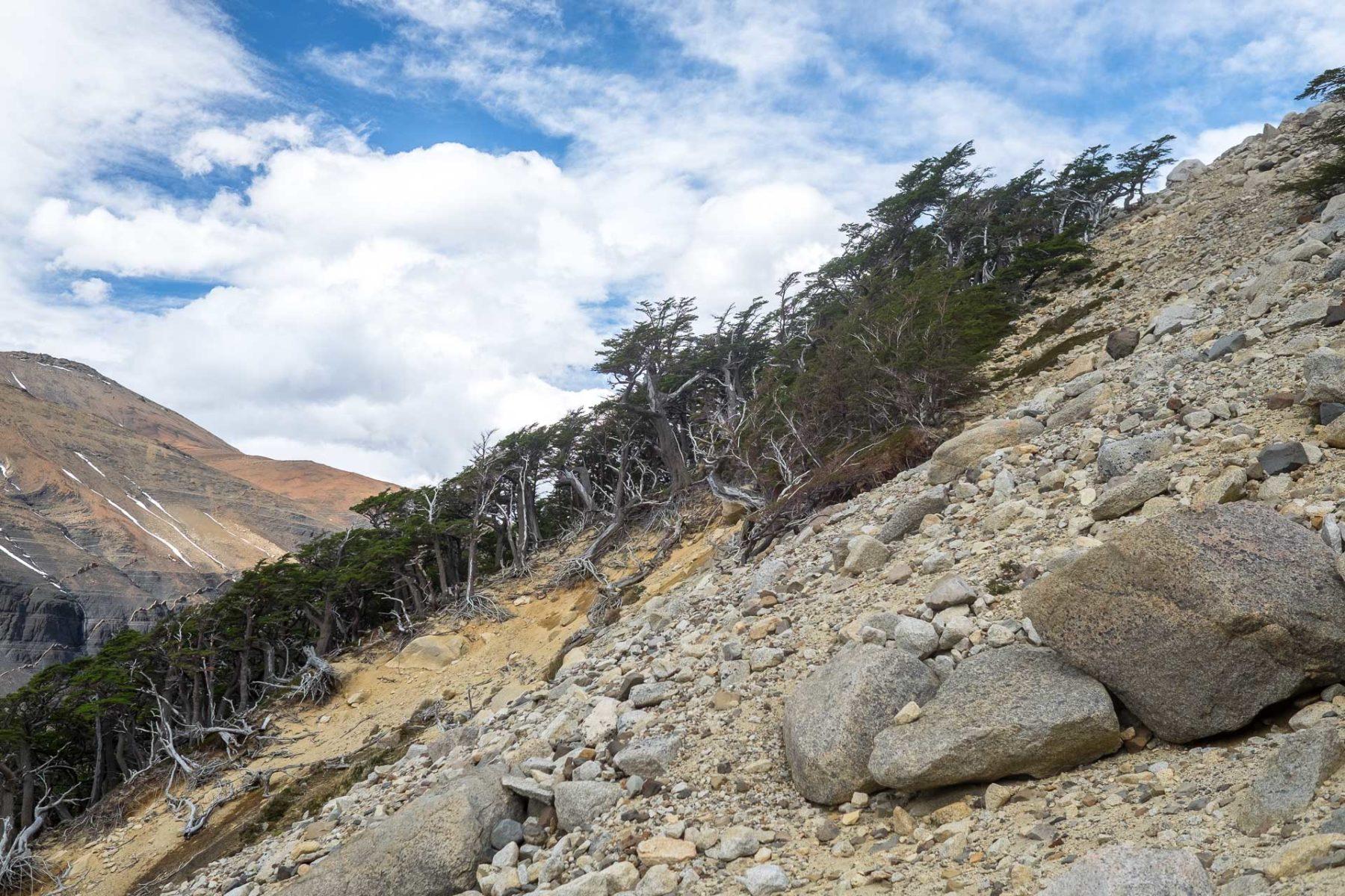 Aufstieg zu den Torres del Paine