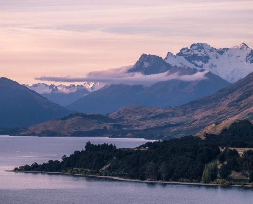 Lake Wakatipu zum Sonnenuntergang