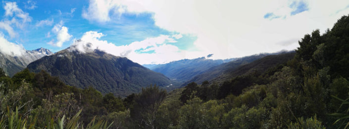 Ausblick über den Fiordland Nationalpark