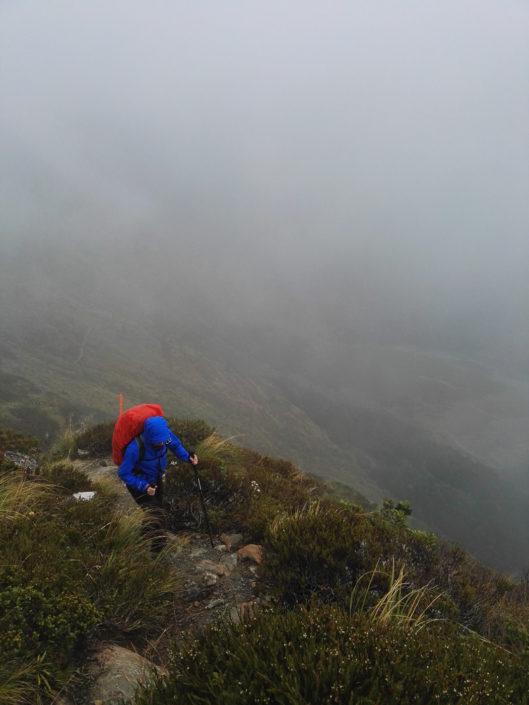 Das Wetter verschlechtert sich sichtbar wärend dem Aufstieg