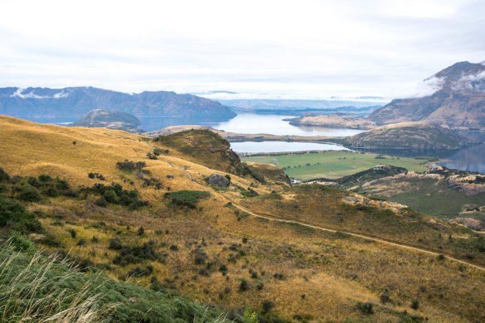 Blick auf den Lake Wanaka vom Rocky Mountain aus
