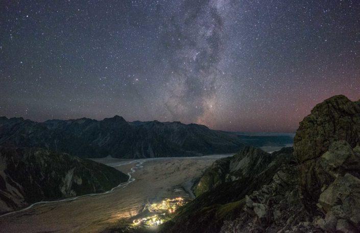 Milchstraße über Tasman Valley