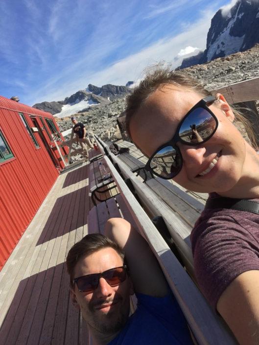 Entspannen auf der Sonnenterasse - Mueller Hütte