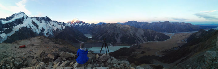 Mount Sefton, Mount Cook, Hooker Valley und das Mount Cook Valley