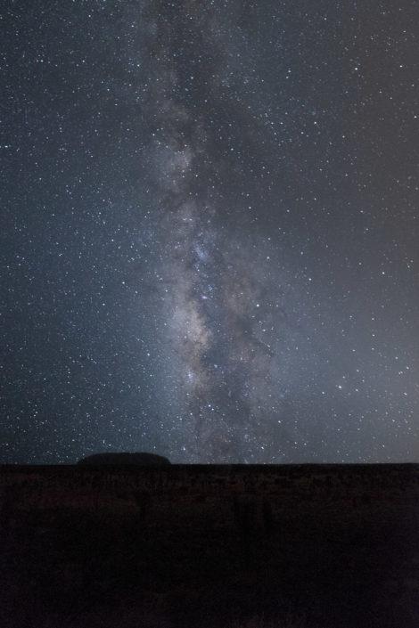 Der Uluru und die Milchstraße