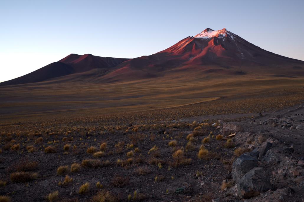 Vulkan in der Atacama-Wüste